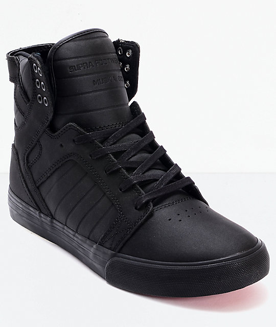 Supra Skytop Red Carpet Edition Black Skate Shoes Zumiez
