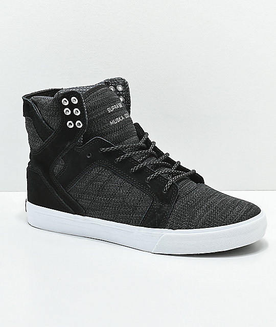 947e3d42a3 ... coupon code for supra skytop reflective black charcoal skate shoes  d7000 4747e