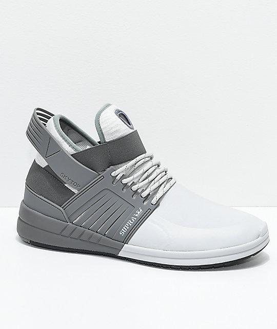 Supra Skytop V Heather   Dark Grey Skate Shoes  4e737bb1102