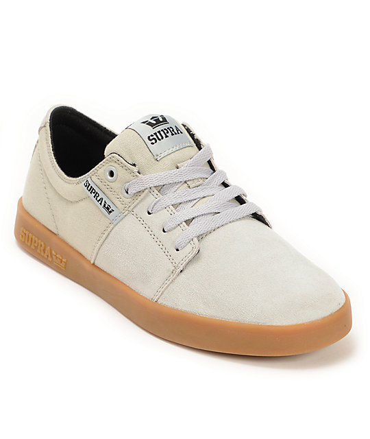 97b0cb76113f Supra Stacks II Grey   Gum Skate Shoes