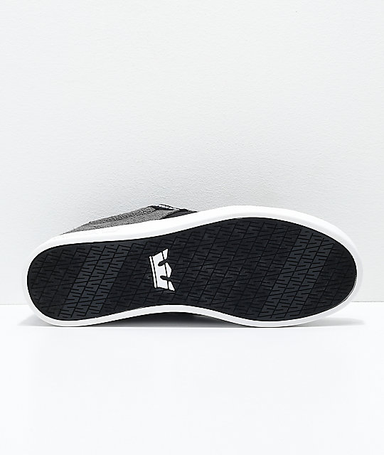 Supra Stacks II Vulc Black, White, Canvas & Woven Textile Skate Shoes
