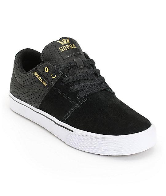 Supra Stacks Vulc II Black & Gold Skate Shoes ...