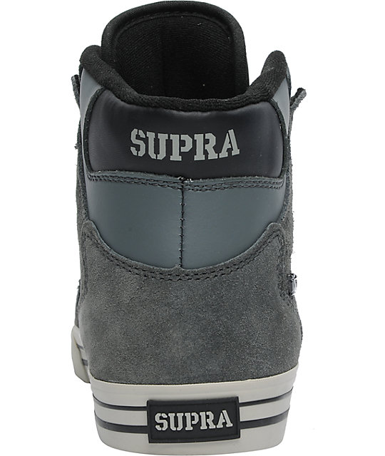 3c1ae9b3a614 ... Supra Stevie Wiliams Vaider Charcoal Grey Leather Shoes ...
