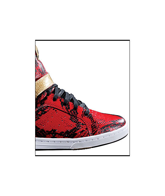 Supra Suprano High Red Snake Shoes