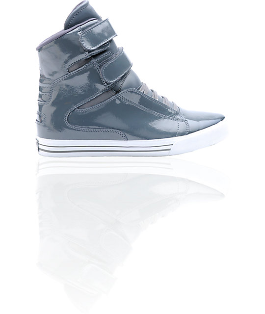 Supra TK Society Grey Patent Shoes
