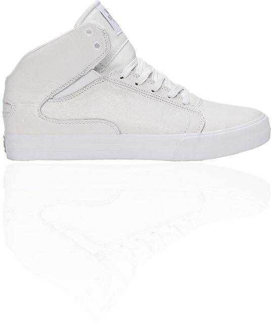 9136de29461e Supra TK Society Mid White Full Grain Shoes