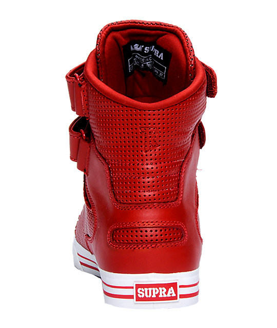 Supra TK Society Red Perforated Shoes