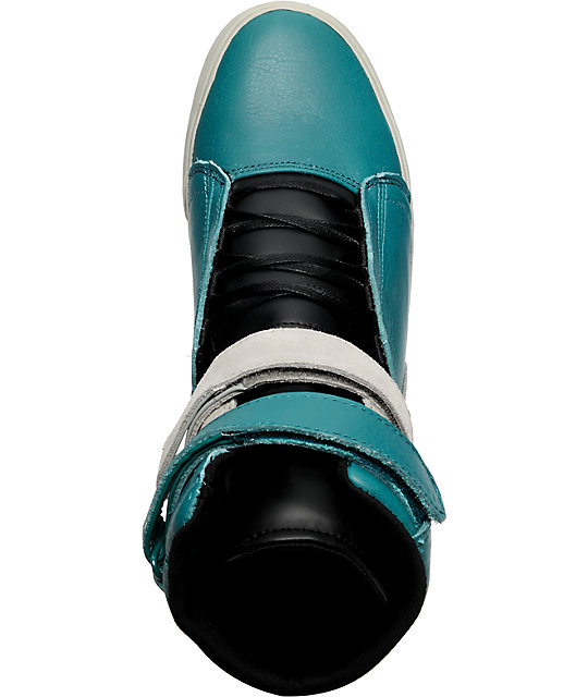 Supra TK Society Teal Steel Suede Shoes