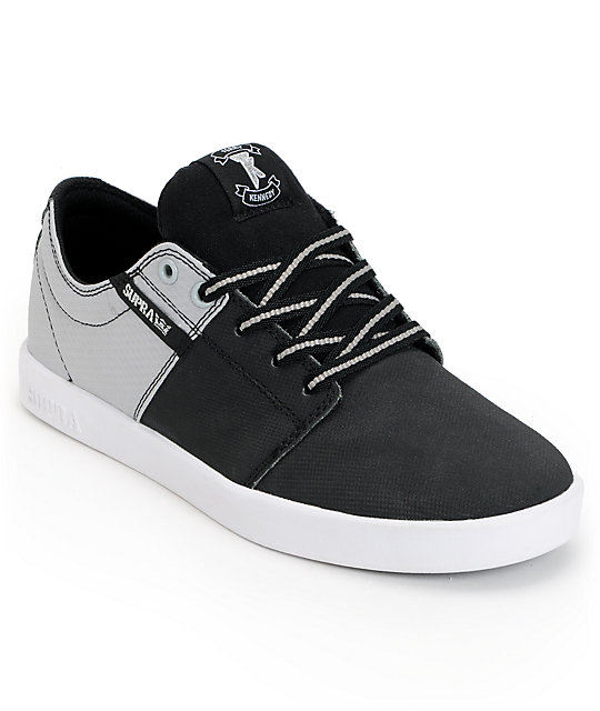 Supra TK Stacks Black & Silver Raptor Tuf Shoes