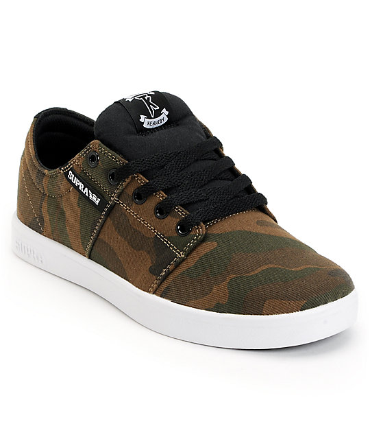 Supra TK Stacks Camo Canvas Shoes