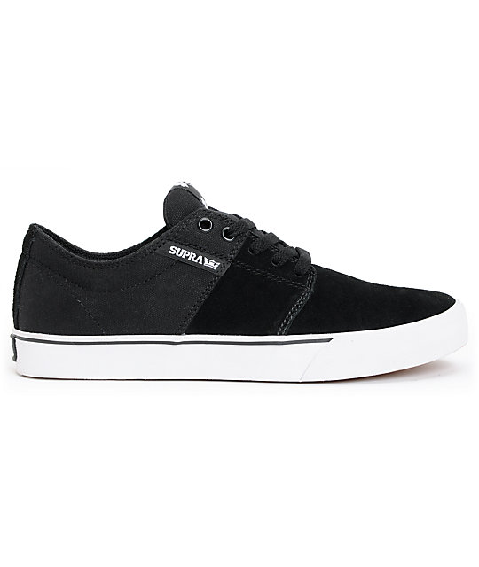... Supra TK Stacks Vulc Black   White Canvas Supra Skate Shoes a29361f0ac