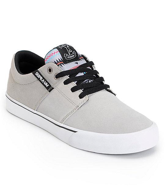 Supra TK Stacks Vulc Southwest   Grey Skate Shoes  3f88bb7b13
