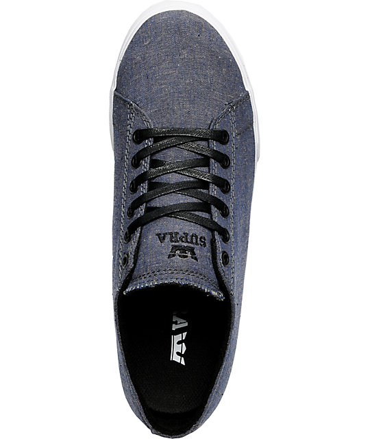 1ee045c19a5b ... Supra Thunder Low Navy Chambray Shoes ...