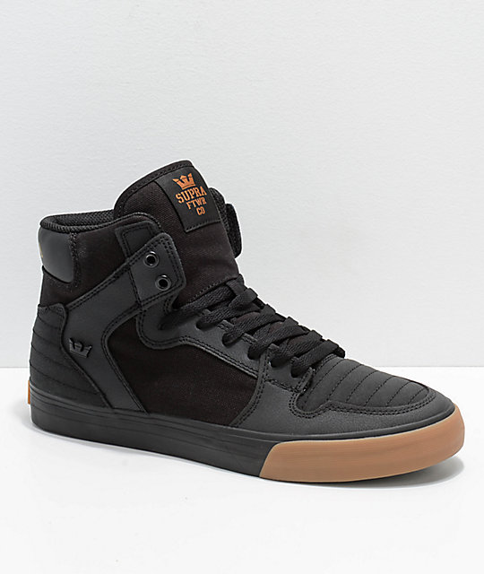 dff6b15a6abc Supra Vaider Black   Gum Nubuck Skate Shoes