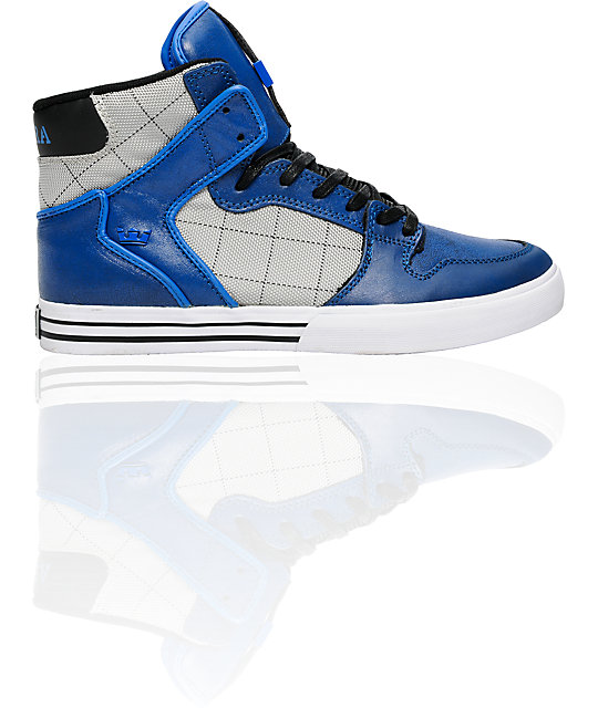 Supra Vaider Black & Royal Distressed Shoes