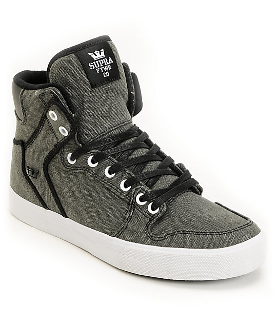 Supra Vaider Black Washed Canvas Shoes