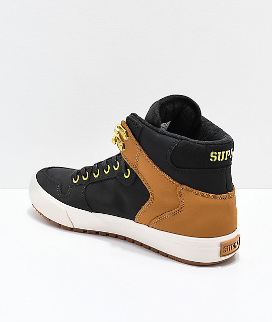 Supra Vaider CW Black & Tan Skate Shoes