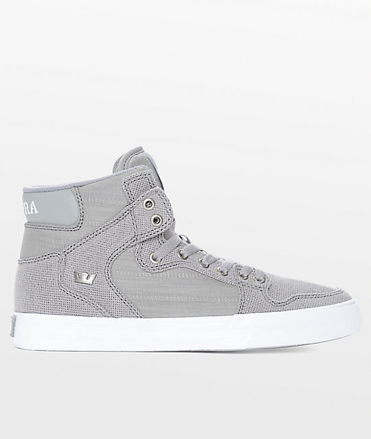 Supra Vaider Canvas Textile Heather Grey Shoes