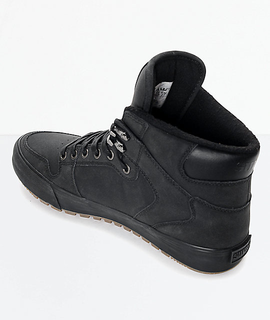 Supra Vaider Cold Weather Black & Gum Boots