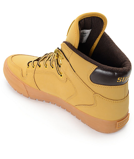 Supra Vaider Cold Weather Wheat & Gum Boots