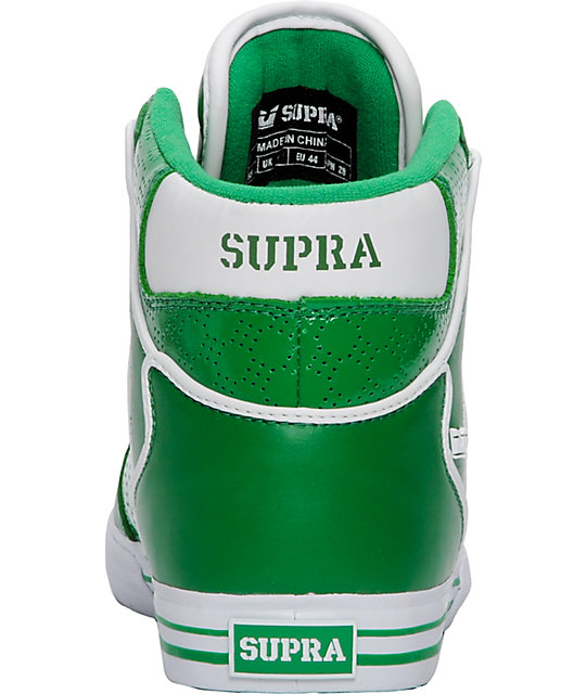 Supra Vaider Green & Silver Shoes