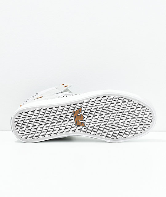 Supra Vaider Grey, Copper, Suede & Leather Skate Shoes