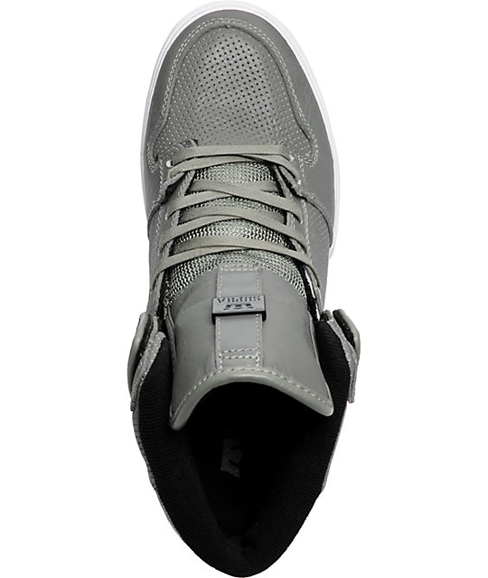 Supra Vaider Grey Full Grain Shoes