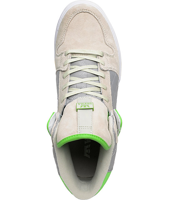 Supra Vaider Grey Suede, Green & Nylon Shoes