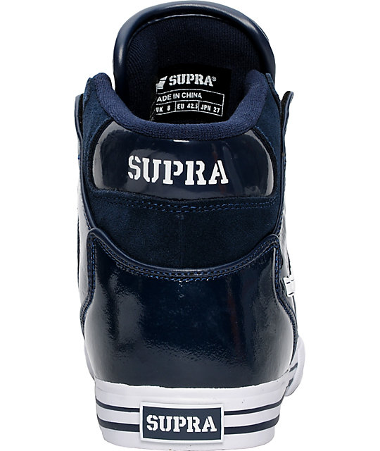 Supra Vaider Navy Suede & Patent Shoes