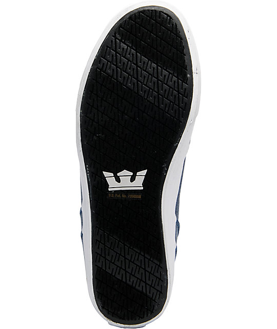 Supra Vaider Navy Washed Canvas Shoes