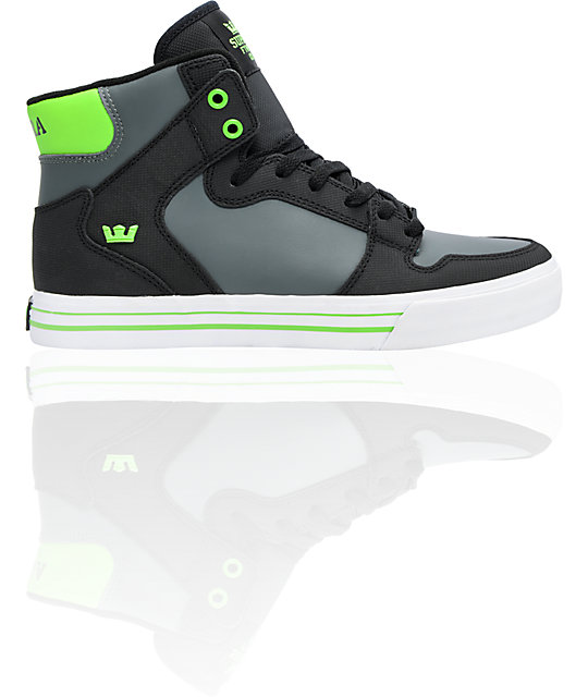 Supra Vaider TUF Black, Grey & Green Shoes