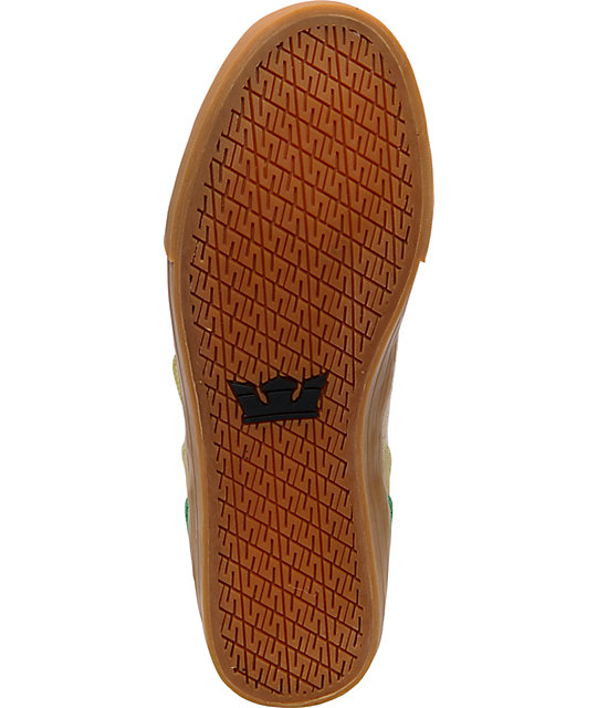 Supra Vaider Tan Hemp & Rasta Shoes