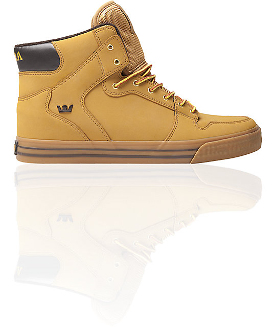 Supra Vaider Wheat Nubuck Shoes