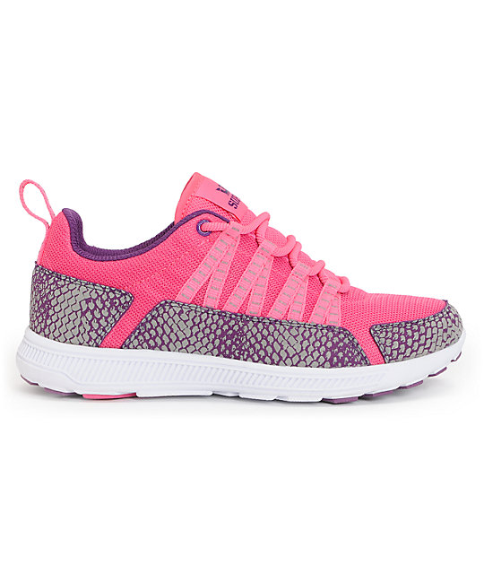 Supra Womens Owen Pink & Purple Snake Shoes