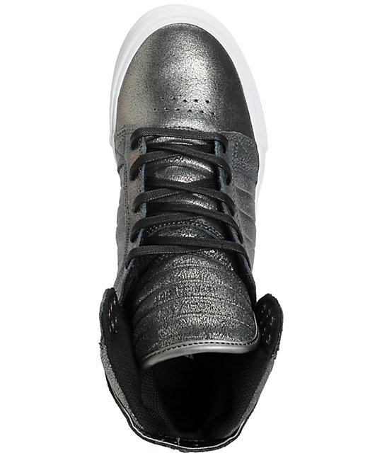 ccb6a051a040 ... Supra Womens Skytop Pewter Metallic Shoes ...