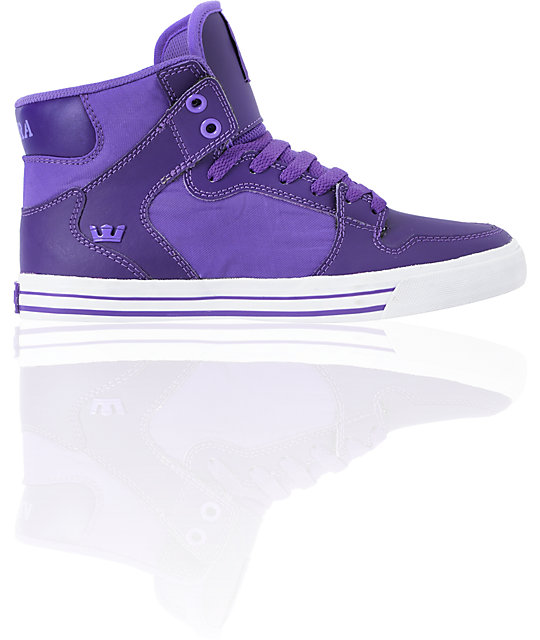 1771a865ee20 ... Supra Womens Vaider Purple High Top Shoes