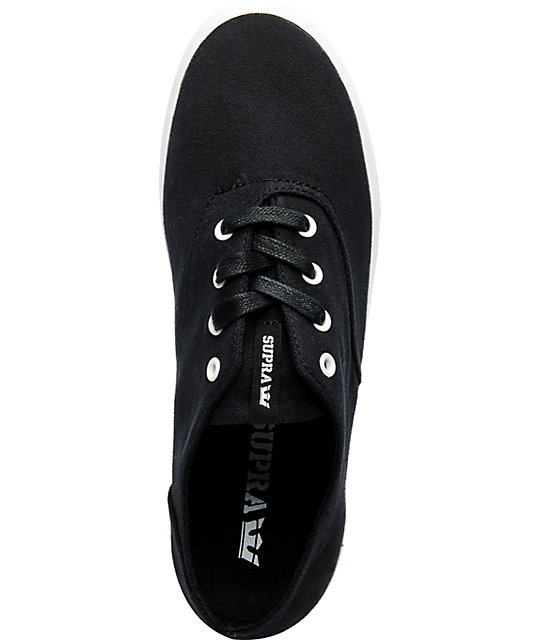 Supra Wrap Black Canvas Shoes