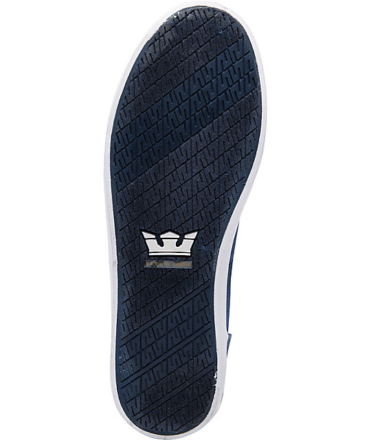 Supra Wrap Navy Canvas Shoes