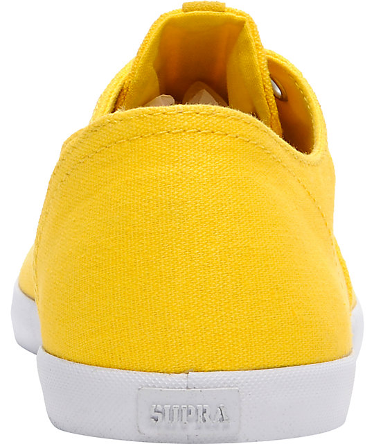 Supra Wrap Yellow Canvas Shoes