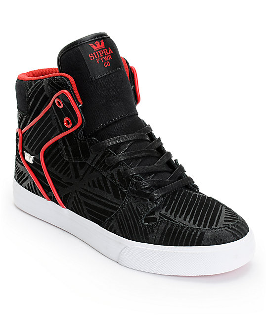 Supra X PUSH Vaider Black Suede Shoes