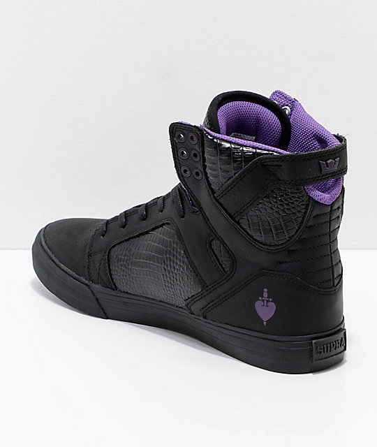 Supra x Disney Skytop Evil Queen Leather Skate Shoes