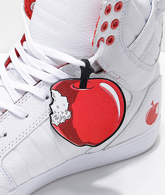 Supra x Disney Skytop Snow White Leather Skate Shoes
