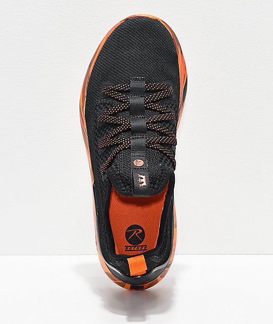 929902e8c12 Supra x Rothco Factor Black & Savage Orange Camo Shoes | Zumiez