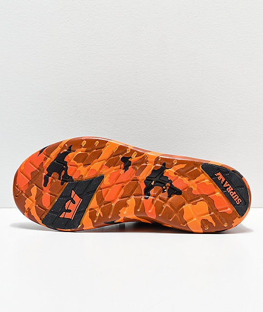 Supra x Rothco Factor Black & Savage Orange Camo Shoes