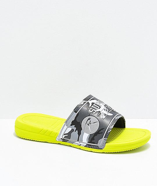 db7ede3c0ace Supra x Rothco Locker Neon Green   Camo Slide Sandals