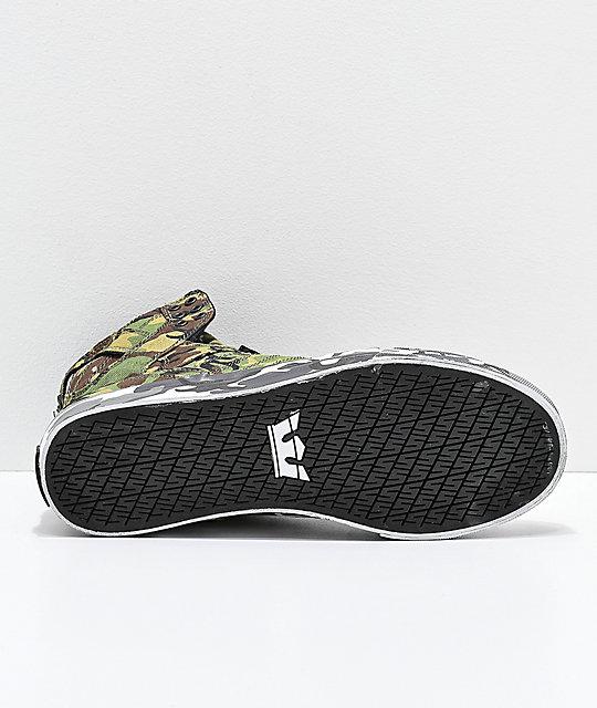 3e9dc201a206 ... Supra x Rothco Skytop Green Camo Skate Shoes