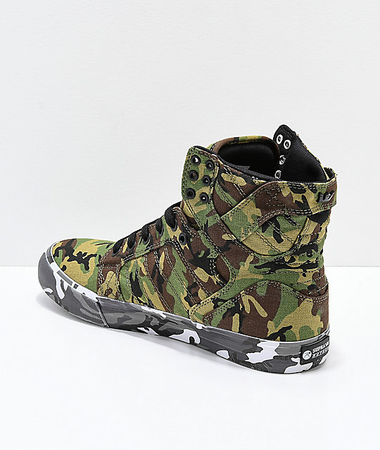 ... Supra x Rothco Skytop Green Camo Skate Shoes ... 2fe24cc1e463