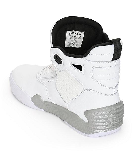 Cheap 237612 Nike Shox Qualify Men White Grey Red Shoes