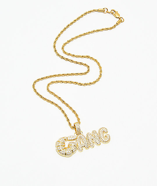 Supreme Patty x The Gold Gods Diamond Shrimp Gang Pendant Chain