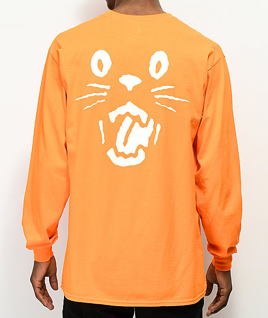 Swallows & Daggers Black Cat Orange Long Sleeve T-Shirt